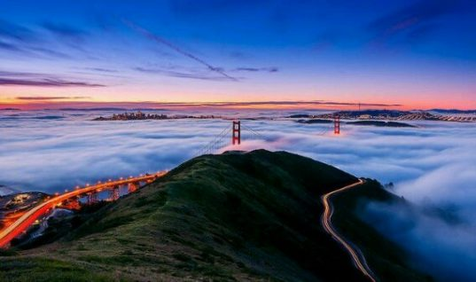 San Francisco's Golden Gate Bridge in California by Joe Azure